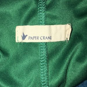 Paper Crane Dresses - Paper Crane Green Long sleeve Mini Dress